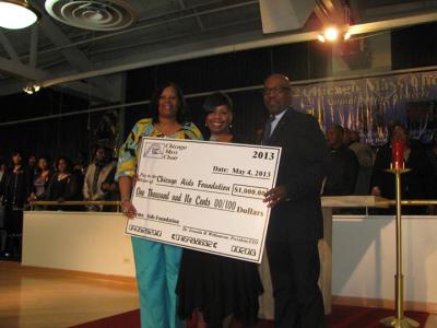 Melanie Paul/AIDS Foundation, Dr. Feranda Williamson/CMC, Rev. Charles Strange/AIDS Foundation)