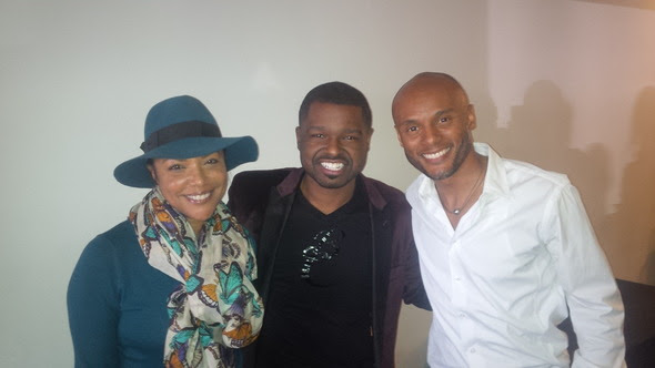 Pastor Marquis Boone with NAACP Award Winner, Kenny Lattimore and Emmy Award Winning Actress, Lynn Whitfield.