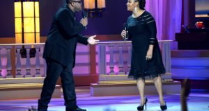 Zacardi Cortez Performing with Lalah Hatahway on BET's Celebration of Gospel 2014