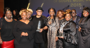 The Anointed Pace Sisters and Israel Houghton (center) with BMI Executive Director, Writer-Publisher Relations Wardell Malloy (far left), BMI Vice President, Writer-Publisher Relations Catherine Brewton (center), and  BMI Director, Writer-Publisher Relations Byron Wright (far right).