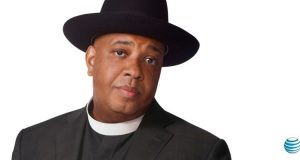 Rev Run hits the radio airwaves with the Inspired Mobility conversation for AT&T. (PRNewsFoto/AT&T Inc.)